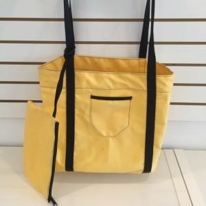 M Sunnyland canvas m beach + pocket  yellow and dark 55