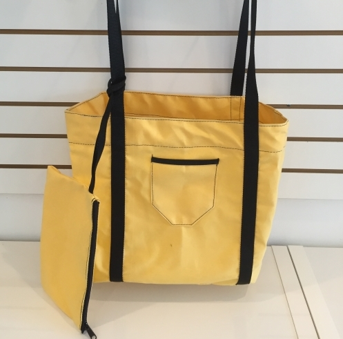 M Sunnyland Canvas M Beach + Pocket  Yellow And Dark 55