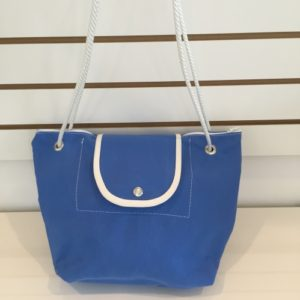 P Purse Light Blue Canvas Bag