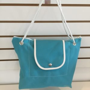 P Purse Canvas Bag Green Blue