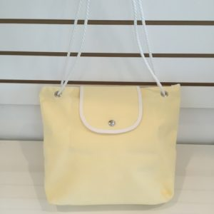 P Purse Canvas Bag Light Yellow