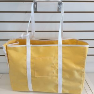 G Beach Bag 4 Pockets Yellow And Withe